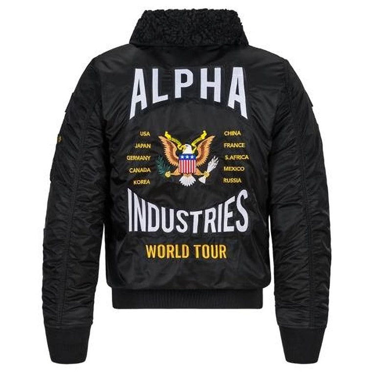 ALPHA INDUSTRY B-15 COAL FORCES FLI JK -BLACK