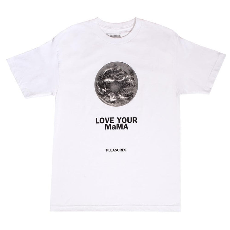 PLEASURES MAMA T-SHIRT -WHITE