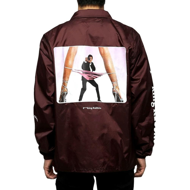 FUCKING RABBIT SPY COACH JACKET -BURGUNDY