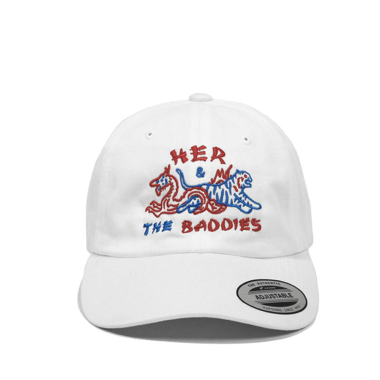 HER & THE BADDIES CAP -WHITE