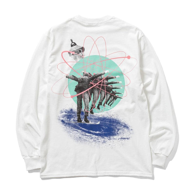 Flagstuff FLY L/S TEE-WHITE