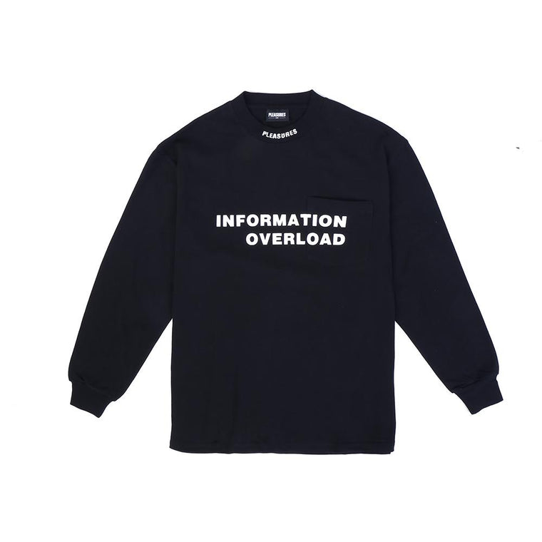 PLEASURES INFORMATION HEAVY WEI L/S -BLACK