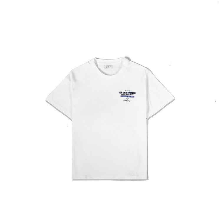 Second Layer EBM LOCK UP T-SHIRT -WHITE