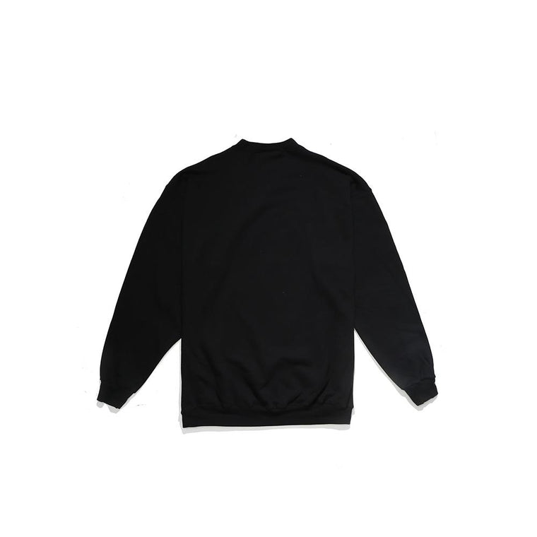 THRASHER CALLIGRAPHY CREW -BLACK