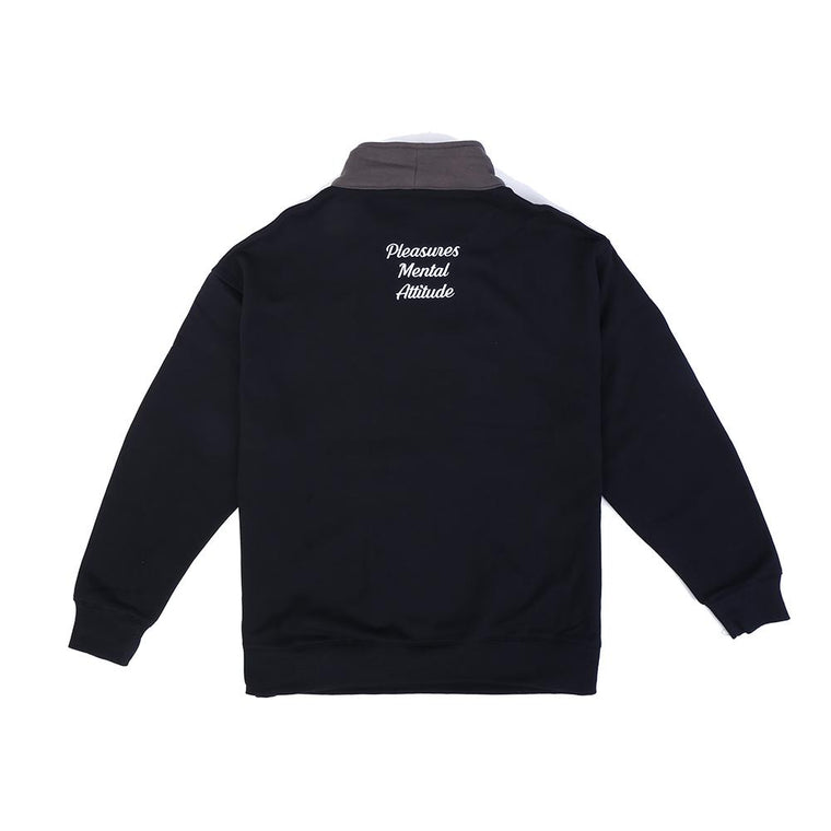 PLEASURES PMA QUARTER ZIP -BLACK