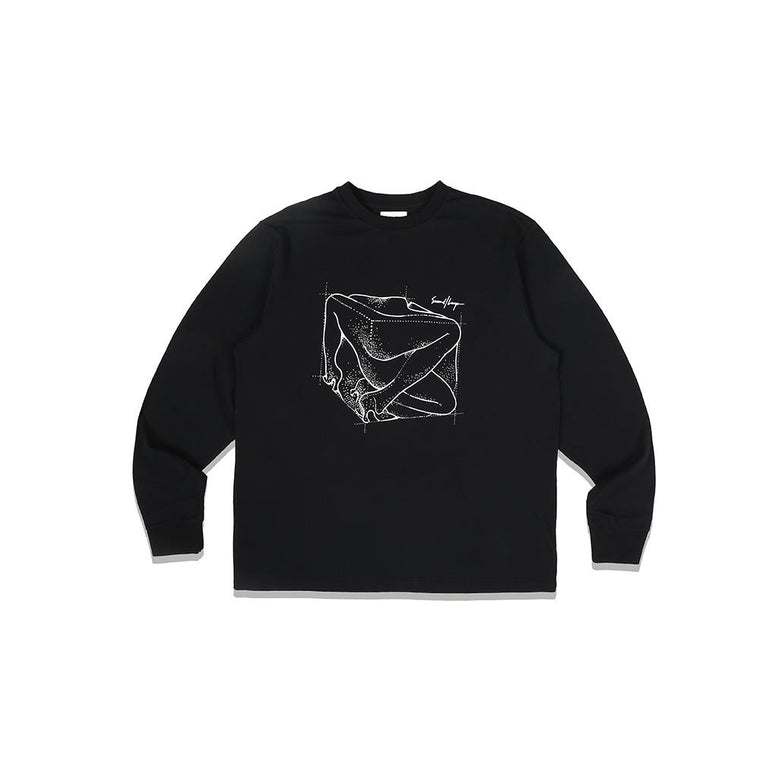 Second Layer INSIDE OUT BODY L/S -BLACK
