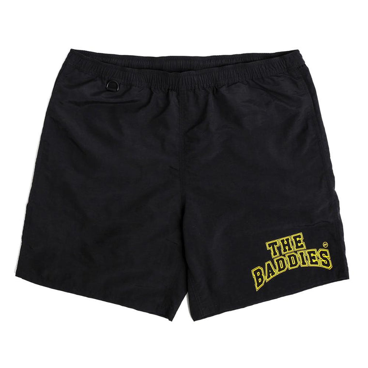 THE BADDIES COLLEGE BOARDSHORT -BLACK