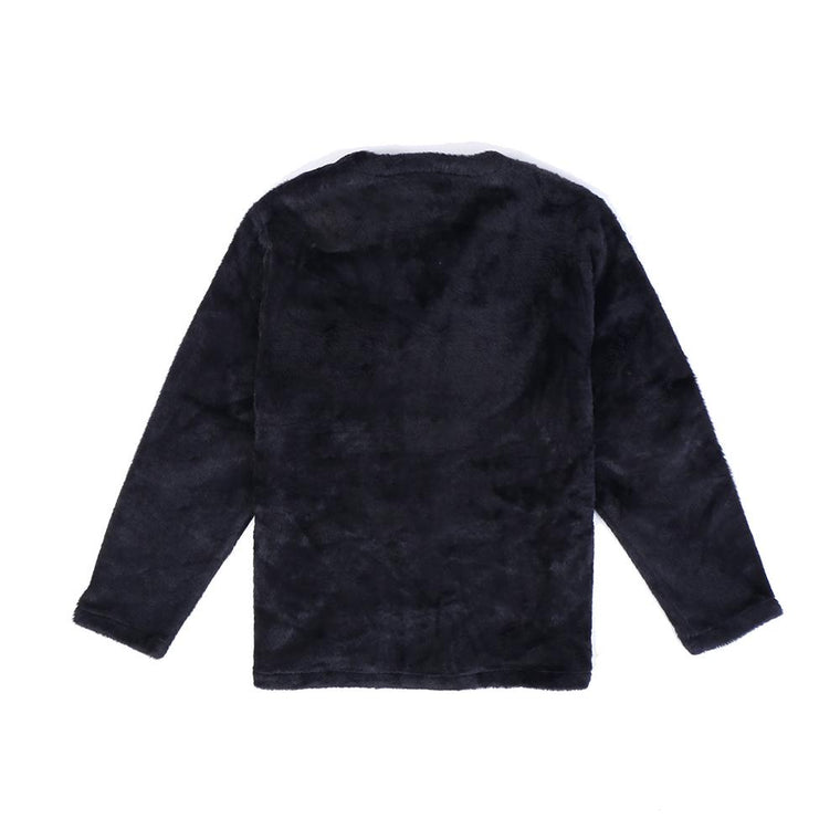 PLEASURES FUZZY CARDIGAN -BLACK