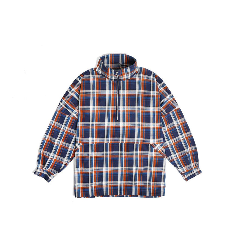 Poliquant CHECKING PATTN. PULLOVER -BLUE