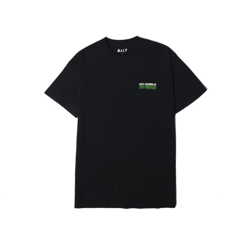 BE TRUE TO YOURSELF BTTY NEON LOGO TEE -BLACK