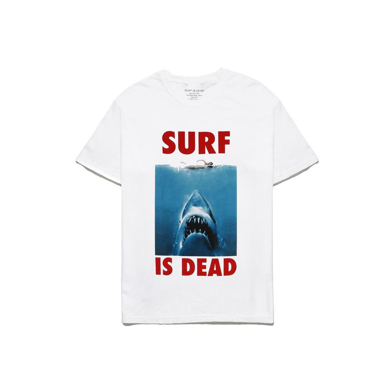 SURF IS DEAD JAWS TEE -WHITE