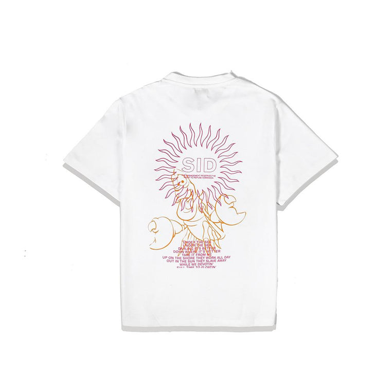 SURF IS DEAD UNDER THE SEA TEE -WHITE