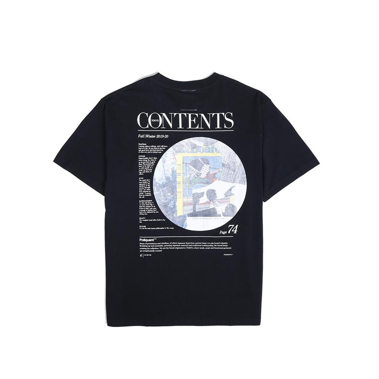 Poliquant BY VINTAGE MAG.PAPER TEE -BLACK