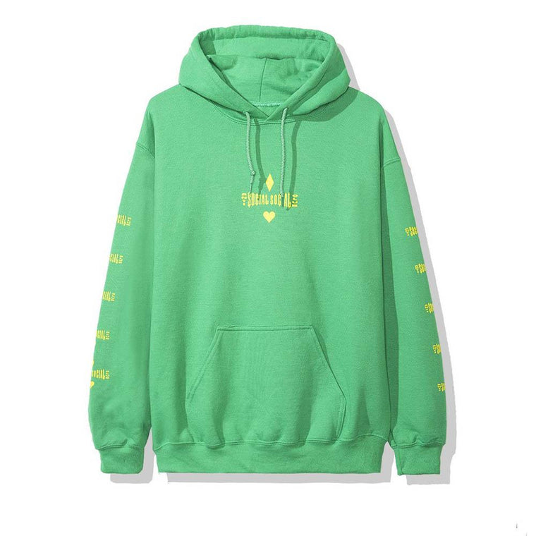 AntiSocialSocialClub ACE GREEN HOODIE -GREEN