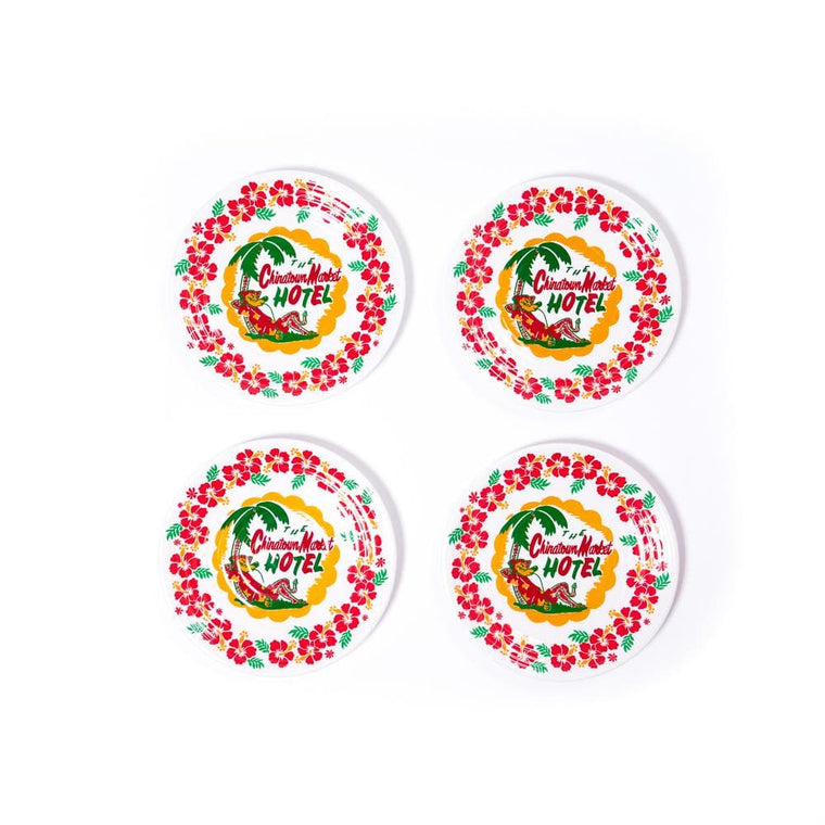 CHINA TOWN MARKET HOTEL PLATE (PACK OF 4)-WHITE