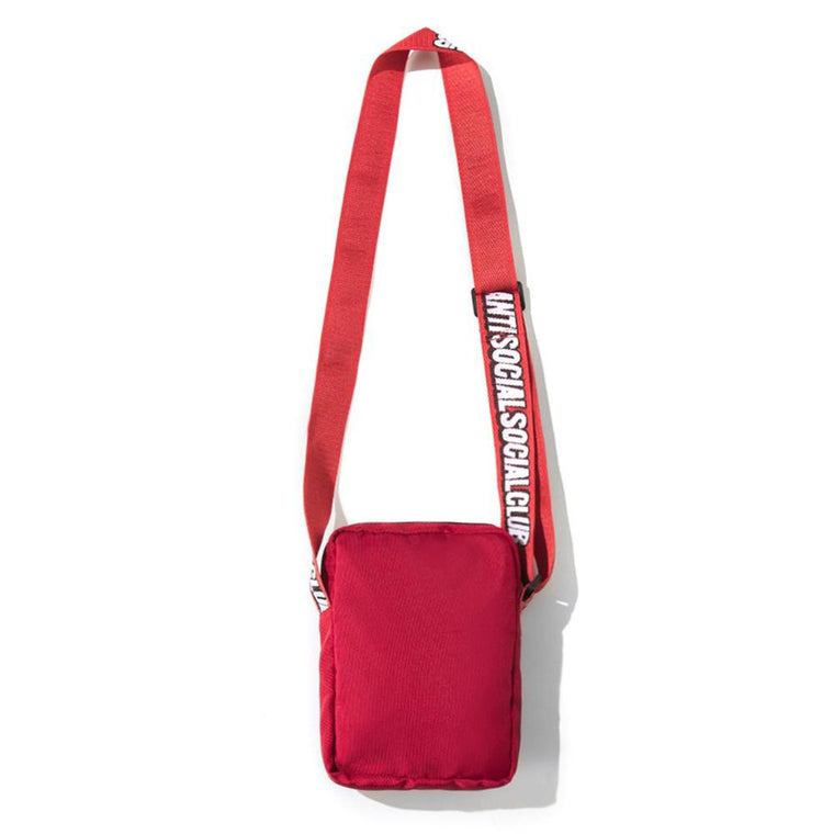 AntiSocialSocialClub ASSC RED SIDE BAG -RED
