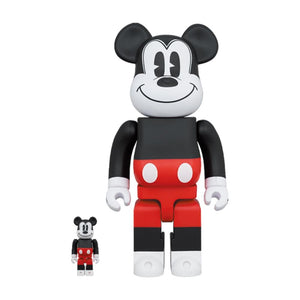 Medicom Toy BEARBRICK MICKEY MOUSE (R&W 2020 VER.) 100% & 400% SET-RED