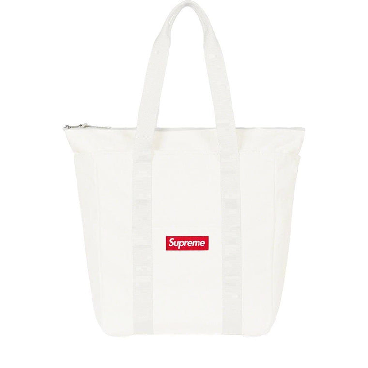 SUPREME CANVAS TOTE-WHITE