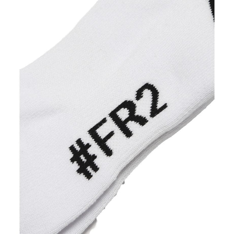 #FR2 CAUTION SOCKS-WHITE