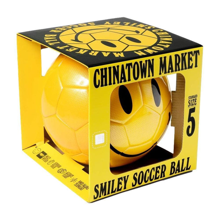 CHINA TOWN MARKET SMILEY SOCCER BALL-YELLOW