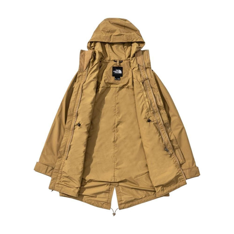 THE NORTH FACE CITY RAIN ZIP IN PARKA-BROWN