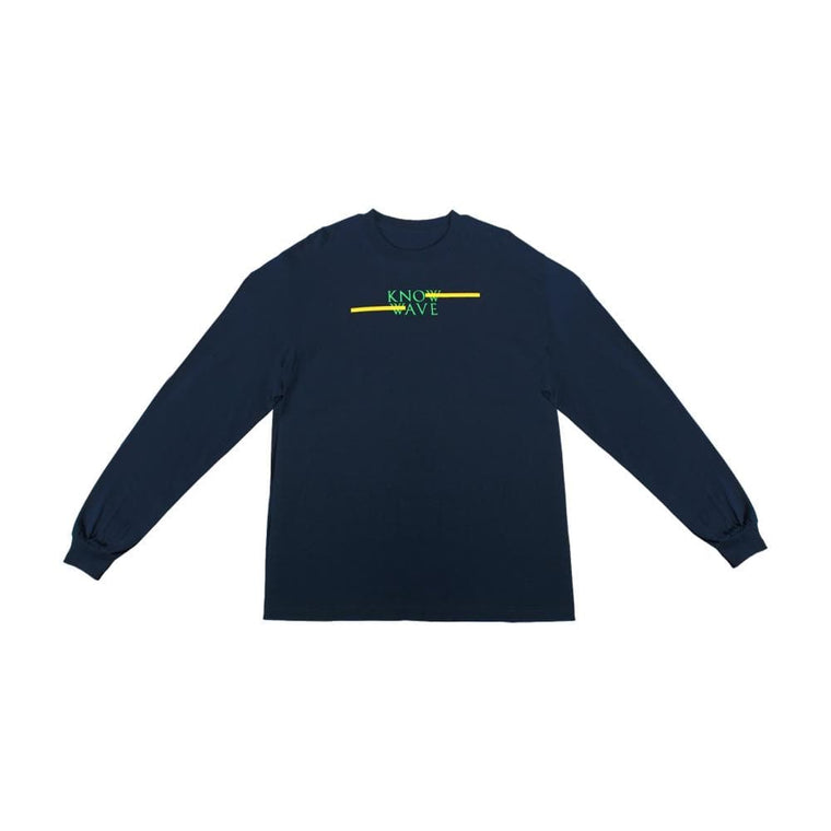 KNOW WAVE CLASSIC SPREAD L/S T-NAVY