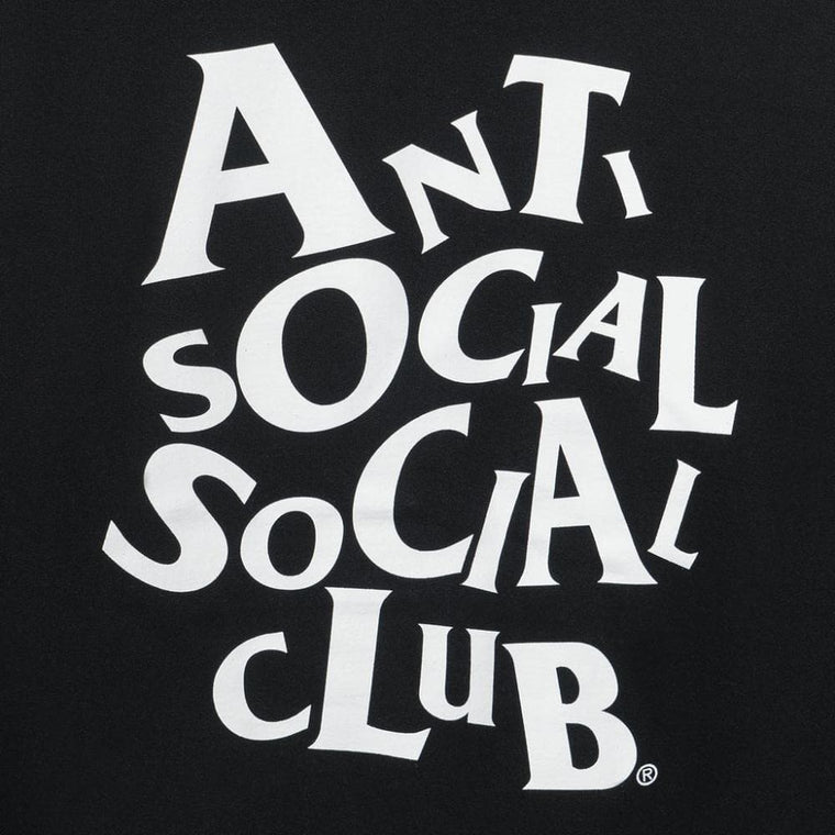AntiSocialSocialClub COMPLICATED BLACK HOODIE-BLACK