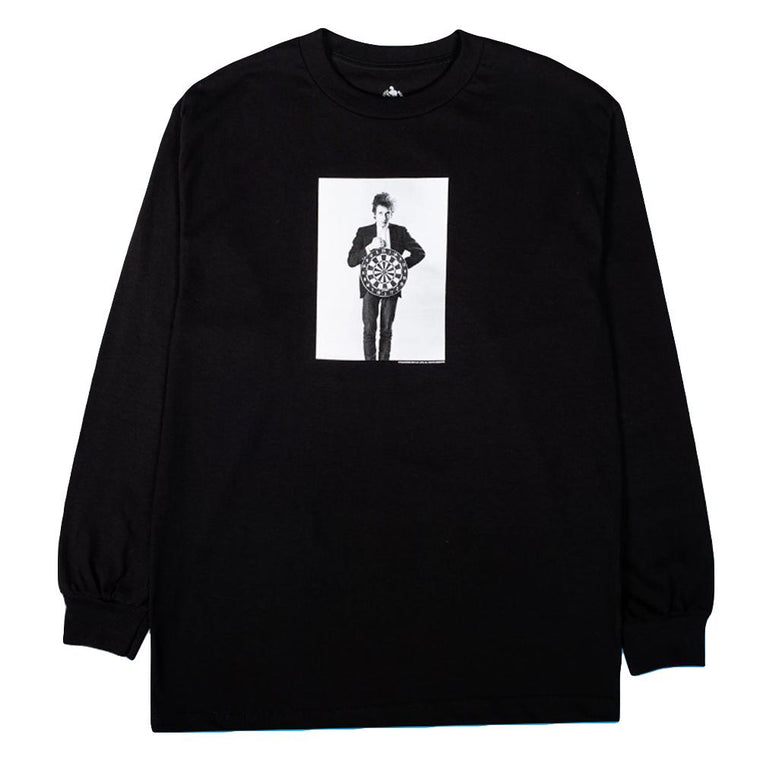 PLEASURES DARTS LONG SLEEVE T-SHIRT -BLACK