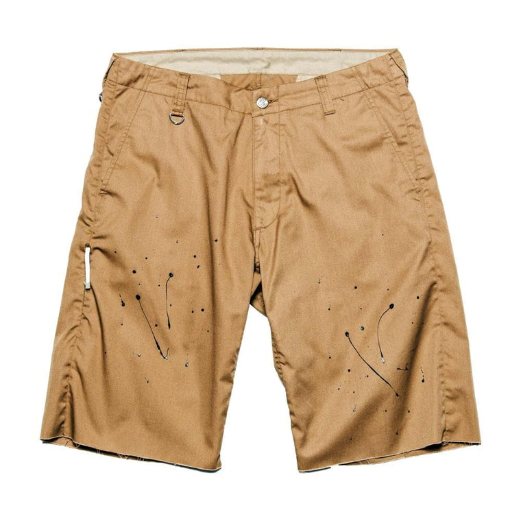 UNIFORM EXPERIMENT DRIPPING SHORTS-CREAM