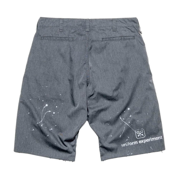 UNIFORM EXPERIMENT DRIPPING SHORTS-GREY