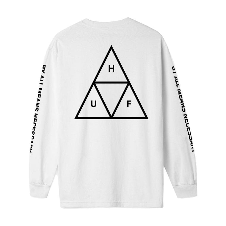 HUF ESSENTIALS TT L/S TEE -WHITE