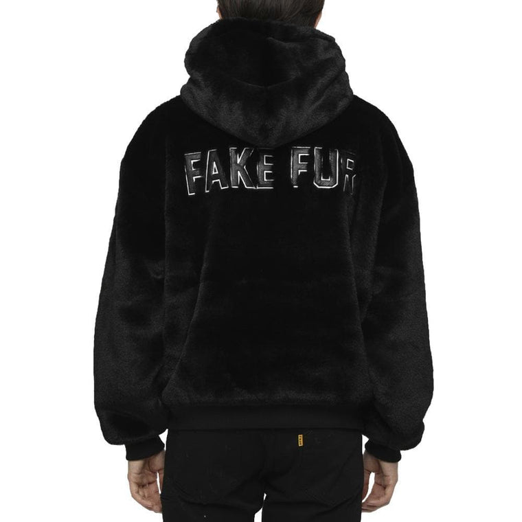 FUCKING RABBIT FAKE RABBIT FUR HO JK -BLACK