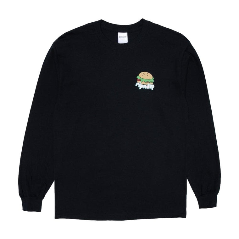RipNDip FAT HUNGRY BABY LONG SLEEVE-BLACK