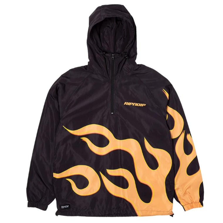 RipNDip FLAMING HOT ANORAK -BLACK