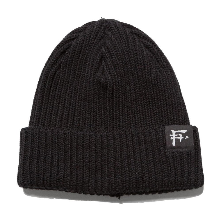 Flagstuff F LOGO KNIT CAP-BLACK