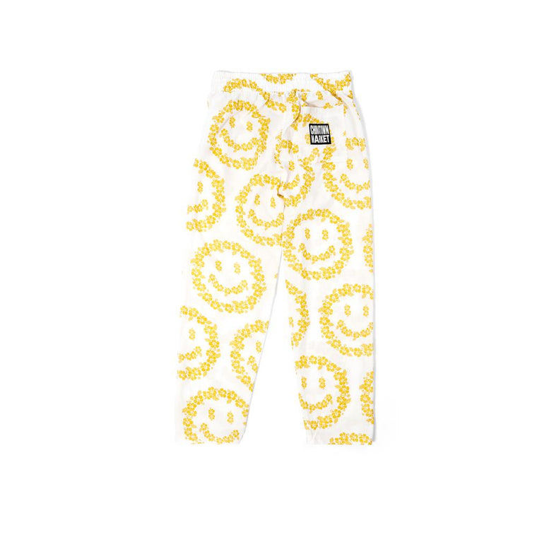 CHINA TOWN MARKET FLORAL SMILEY PANTS PAJAM-WHITE
