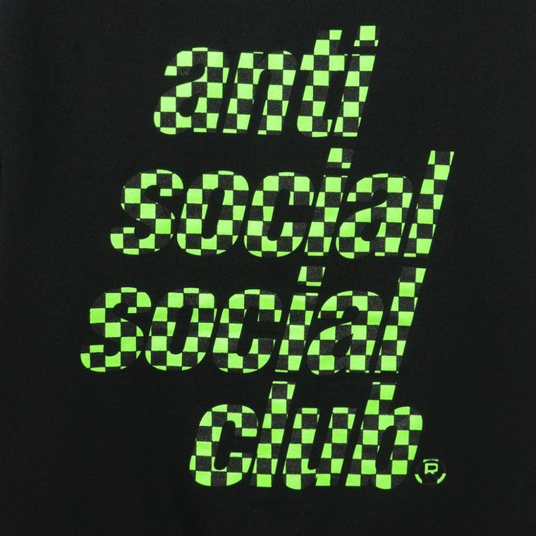 AntiSocialSocialClub FOOD COURT BLACK HOODIE-BLACK