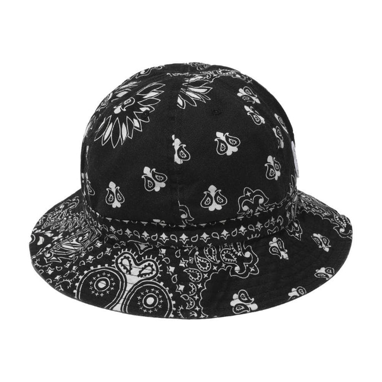 #FR2 PAISLEY BUCKET HAT-BLACK
