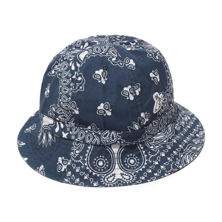 #FR2 PAISLEY BUCKET HAT-NAVY