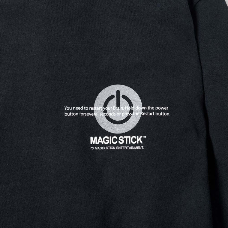 MAGICSTICK FUCKED UP NOW LS TEE -BLACK