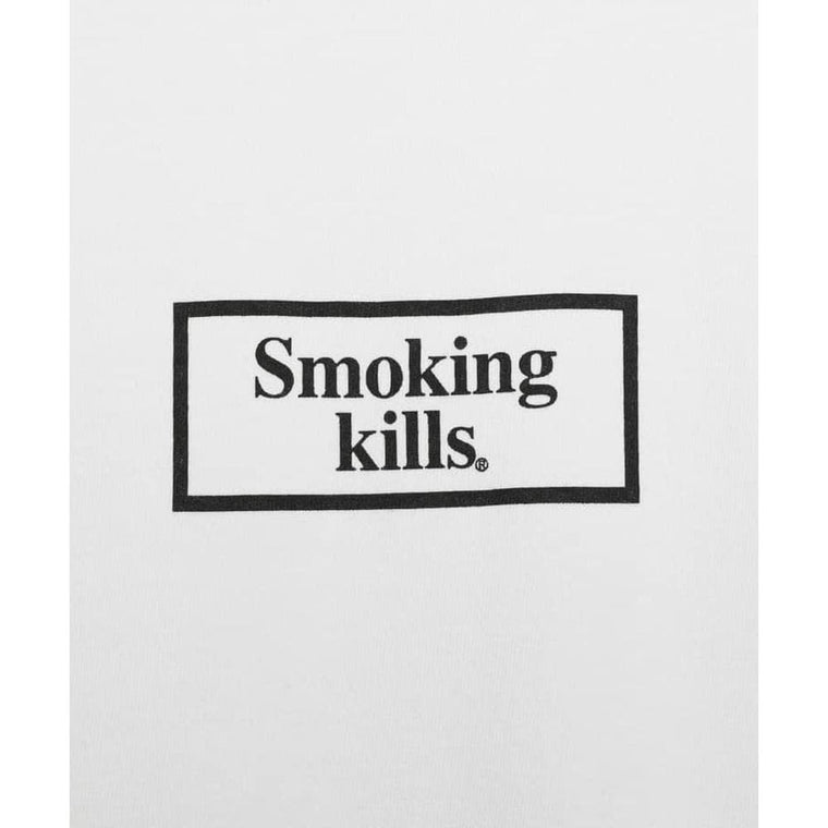 FUCKING RABBIT SMOKING KILLS SMALL LOGO-WHITE