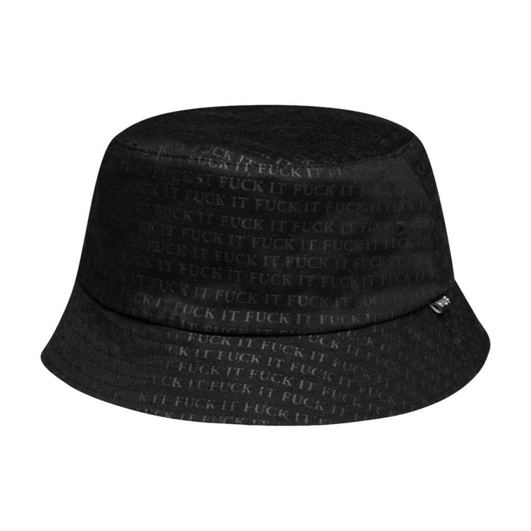 HUF FUCK IT REVERS BUCKET HAT-BLACK/WHITE
