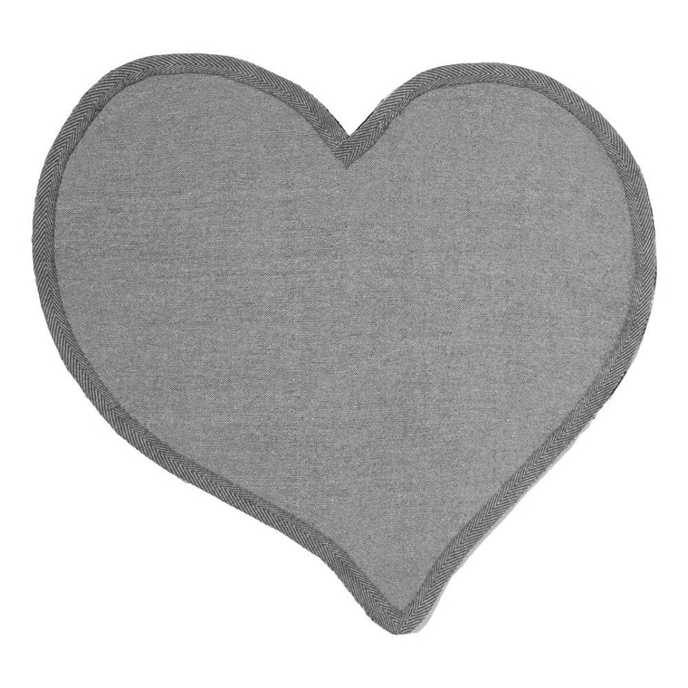 CHINA TOWN MARKET HEART RUG-BLACK
