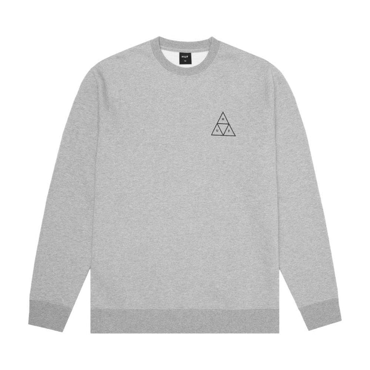 HUF ESSENTIALS TT CREW-GREY