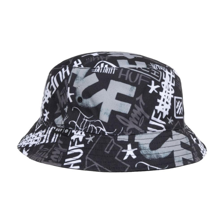 HUF HAZE BUCKET HAT-BLACK