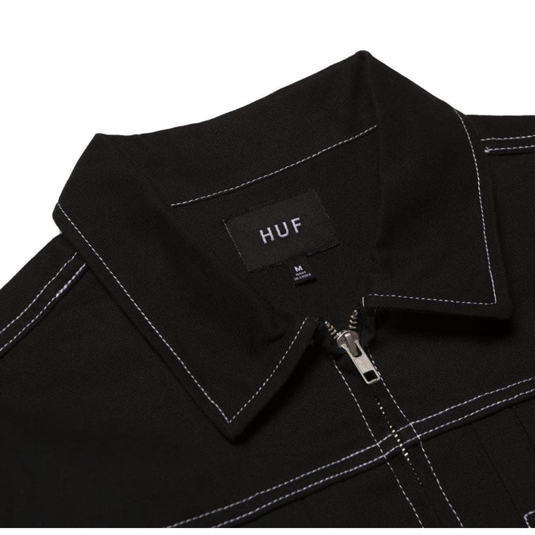HUF LINCOLN TRUCKER JACKET-BLACK