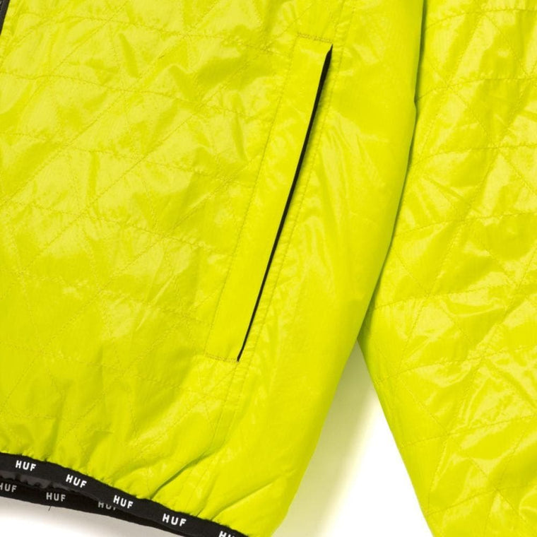 HUF POLYGON QUILTED JACKET-LIME