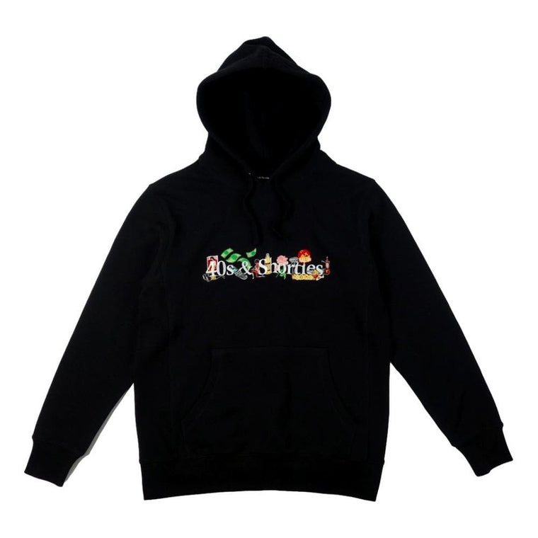 40'S AND SHORTIES LIFE HOODIE -BLACK