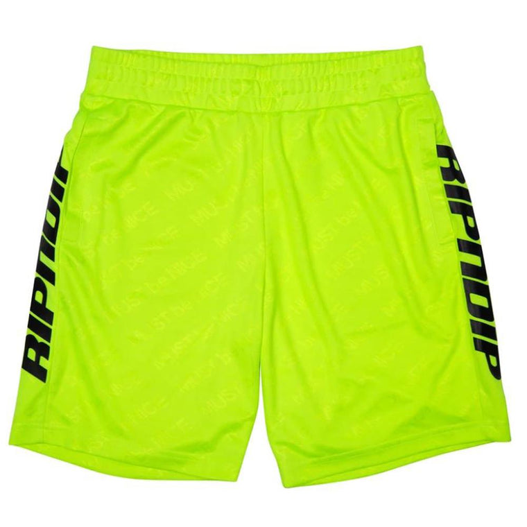 RipNDip MBN STRIPE SOCCER SHORTS -YELLOW