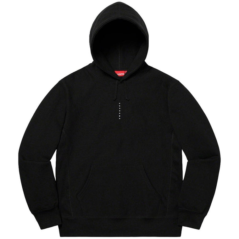 SUPREME MICRO LOGO HOODED SWEATSHIRT-BLACK
